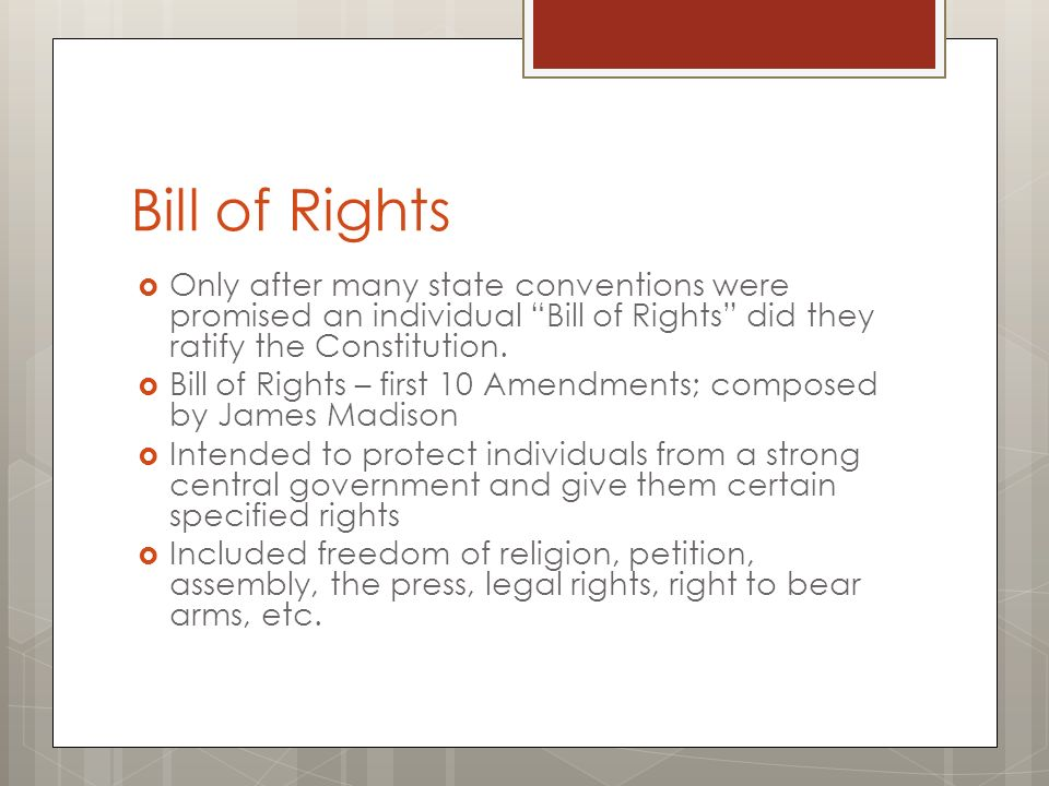 "bill of rights to protect from Equal and inalienable rights when most of us think of ""rights,"" we imagine things we are free to do, like speak our minds, or practice a religion, or sell."