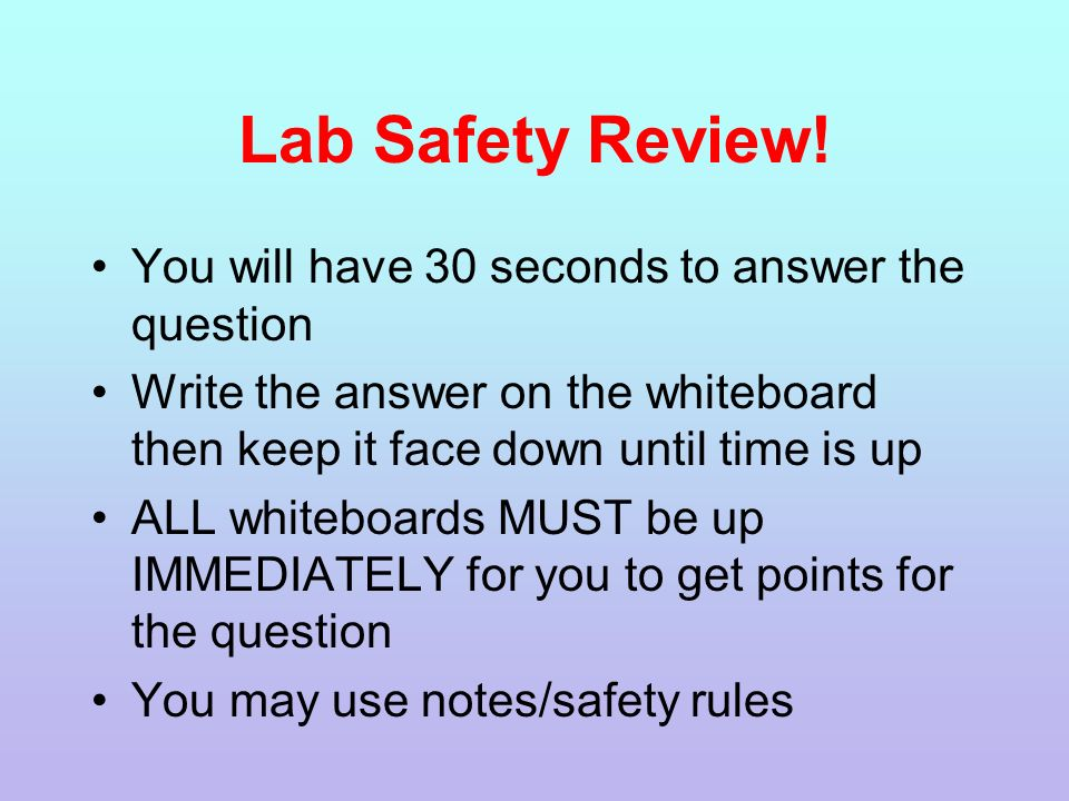 LAB SAFETY https://www.youtube.com/watch?v=cr7roogzM8c. - ppt download