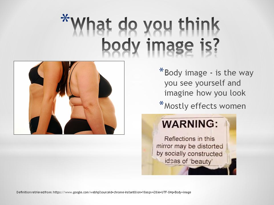 What do you think body image is