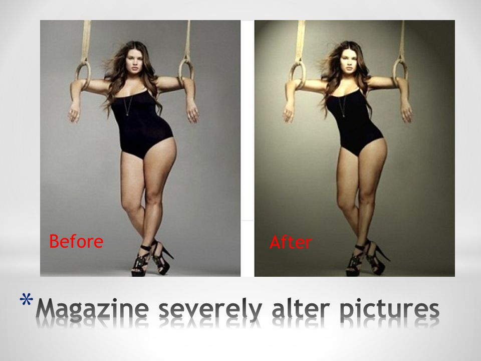 Magazine severely alter pictures