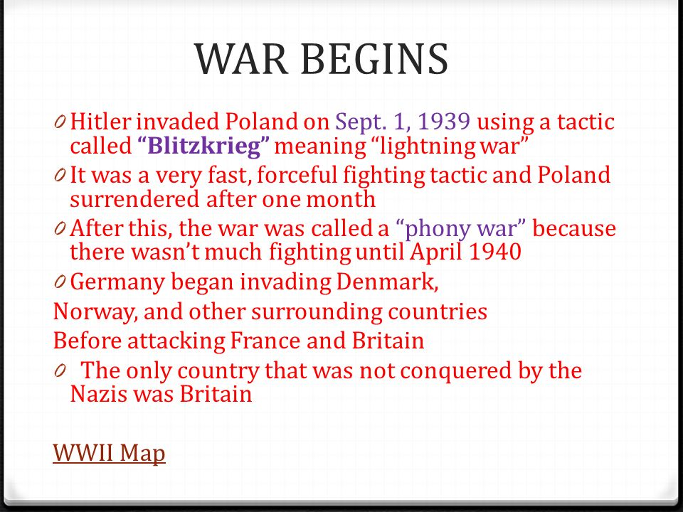 World War II Introduction ppt download