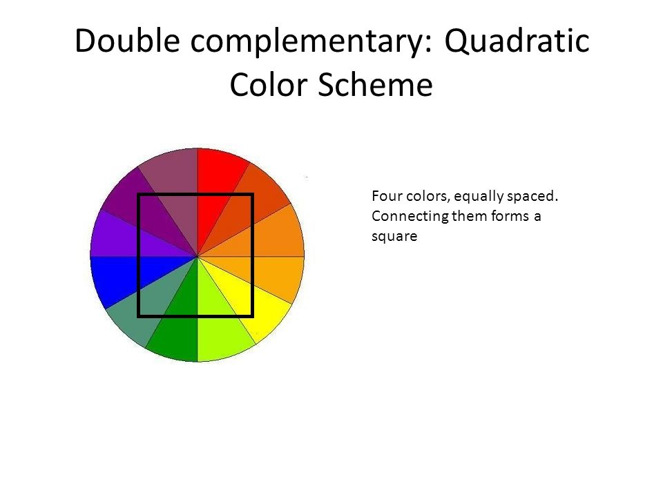 Double Complementary Quadratic Color Scheme