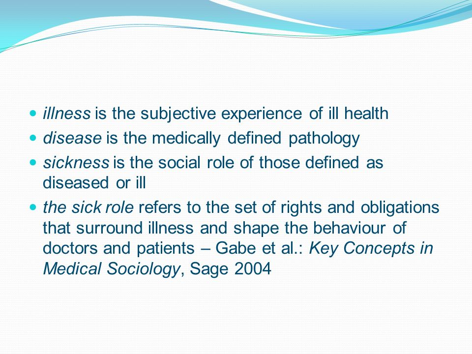 the social importance of the sick role The sick role essays: over 180,000 the sick role essays, the sick role term papers, the sick role research paper, book reports 184 990 essays, term and research papers available for unlimited access.