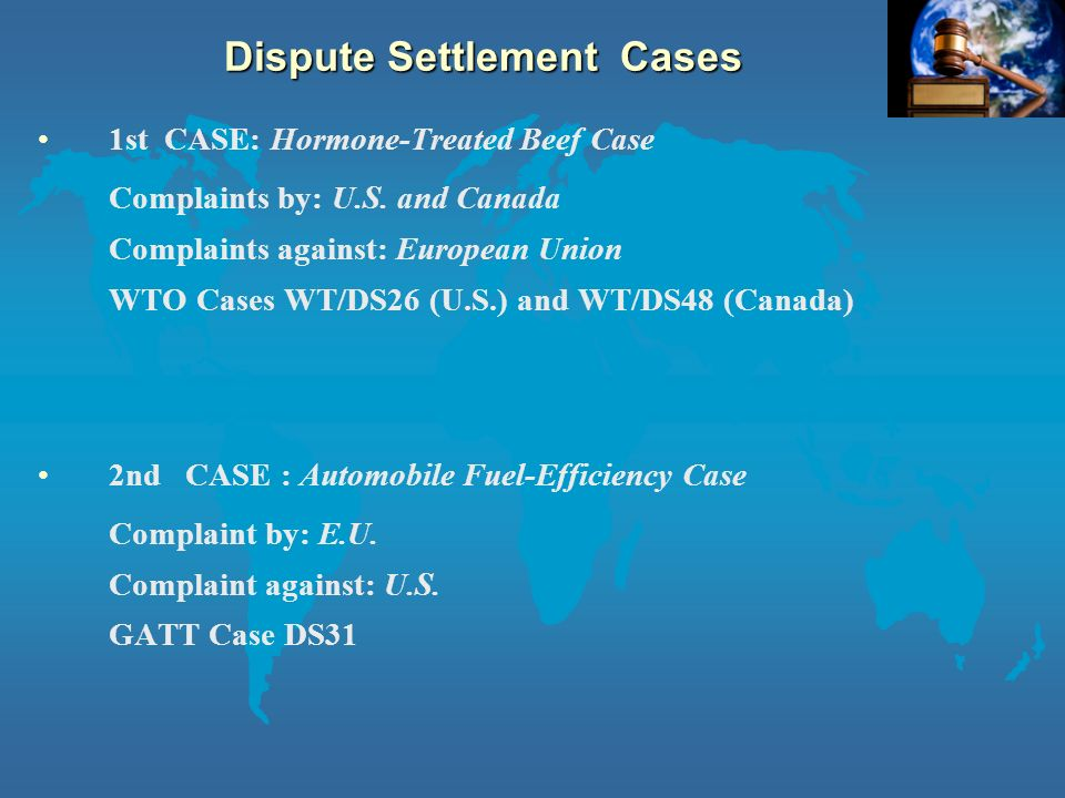 an analysis of the trade dispute of hormone treated beef The long-standing conflict with the united states over the european union's ban   to import a set quantity of beef - not treated by hormones - into the eu  the  hormone beef case raises fundamental questions about the role.