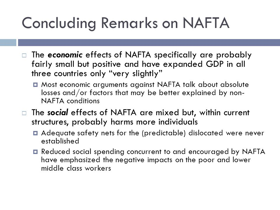 arguments against nafta The north american free trade agreement (nafta  pat roberts, the senior us senator from kansas, called for an outcry against trump anti-nafta moves,.