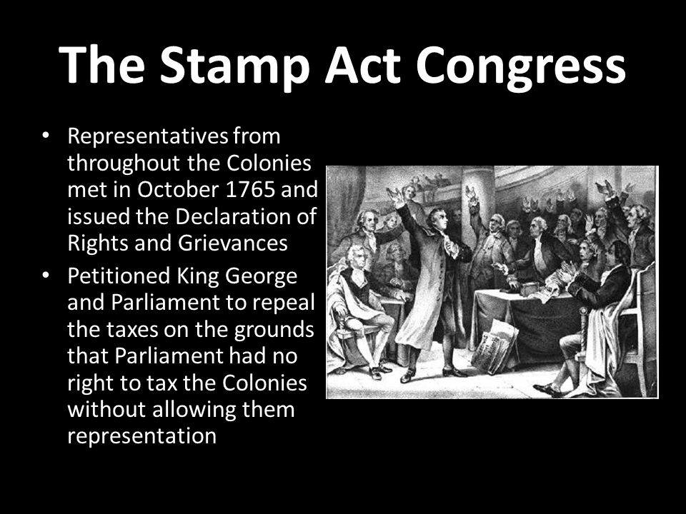 what year did the stamp act congress meet