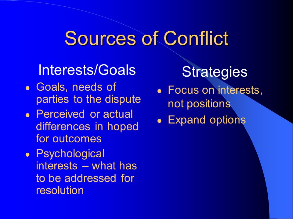 six sources of conflict