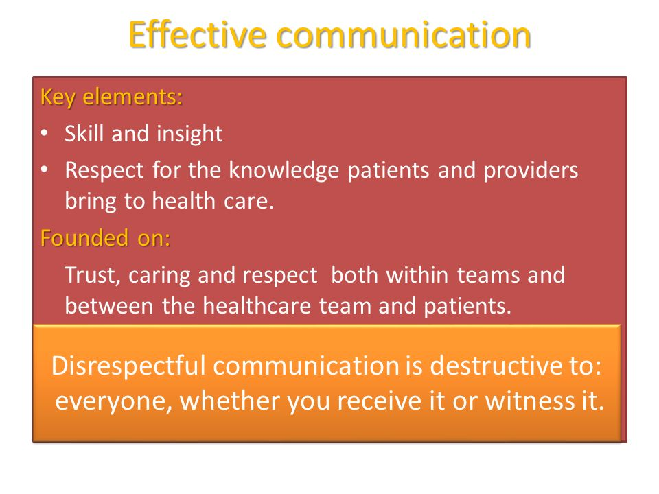 communication modality within health care Nurses largely affect society in the health care  example essay on developing communication  within the nursing environment communication.