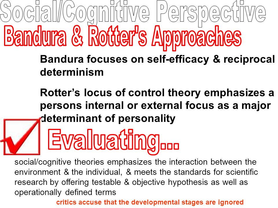 social cognitive theory of personality pdf