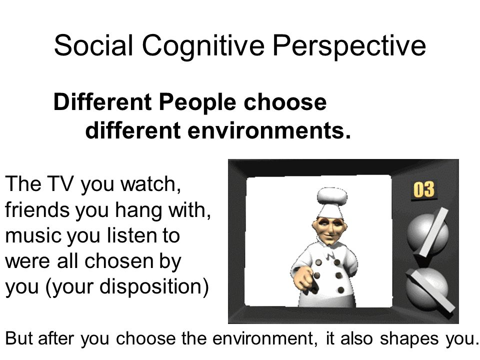 the social cognitive perspective essay Paper instructions: for this paper, you are asked to examine specific aspects of social cognitive theory and compare it to behaviorism your paper should be four to.