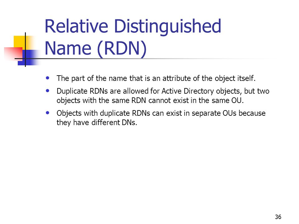 how to get the distinguished name in active directory