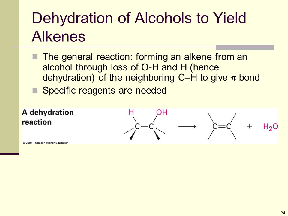 formation of an alkene by alcohol Alkenes – structure, properties, and synthesis a student should be able to: 1 give the iupac name when given the structure, and draw the structure given the name of open-chain alkenes using the e-z system for designating alkene diastereomers give the iupac name of monocyclic alkenes (note: cis and trans isomerism was discussed in module 52) 2.