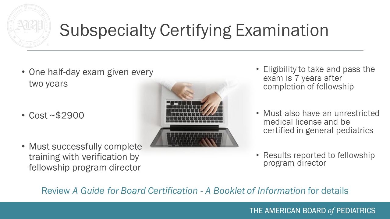 Fellow orientation medical school residency fellowship ppt 10 subspecialty certifying examination 1betcityfo Images