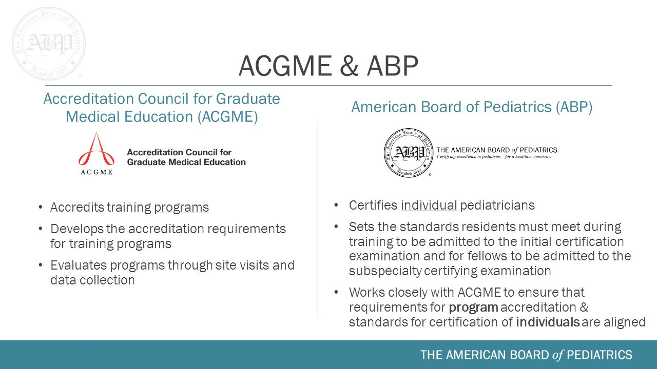 Fellow orientation medical school residency fellowship ppt acgme abp accreditation council for graduate medical education acgme american board of pediatrics 1betcityfo Images