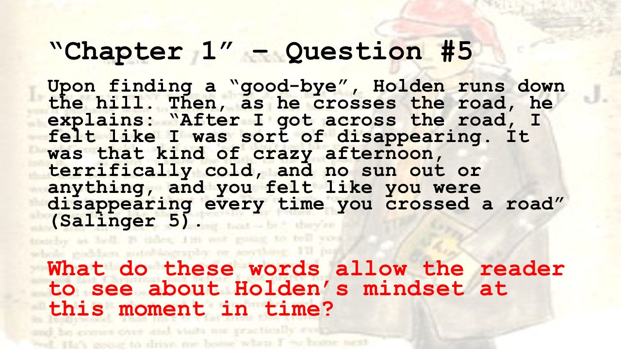 holden caufields character analysis in j d salingers catcher in the rye Holden caulfield in the catcher in the rye, by jd essay about an analysis of jd salinger's the catcher in because holden caulfield is a character most.
