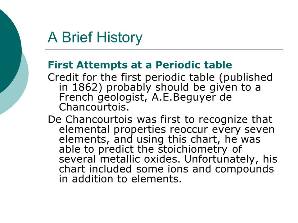 What do you really know about it ppt video online download a brief history first attempts at a periodic table urtaz Images