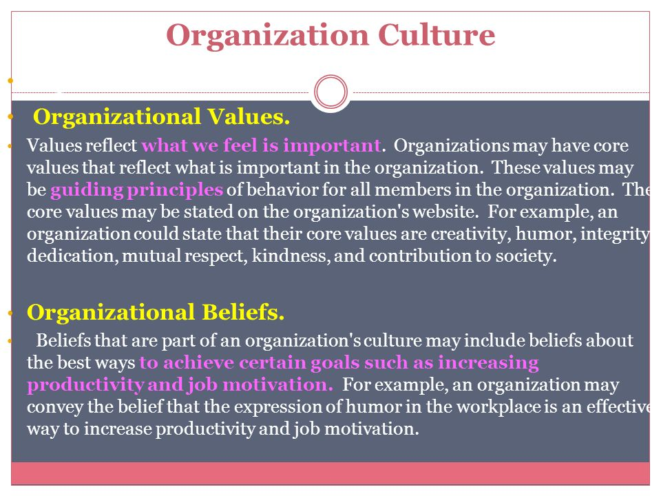 What Is an Organizational Value Statement?