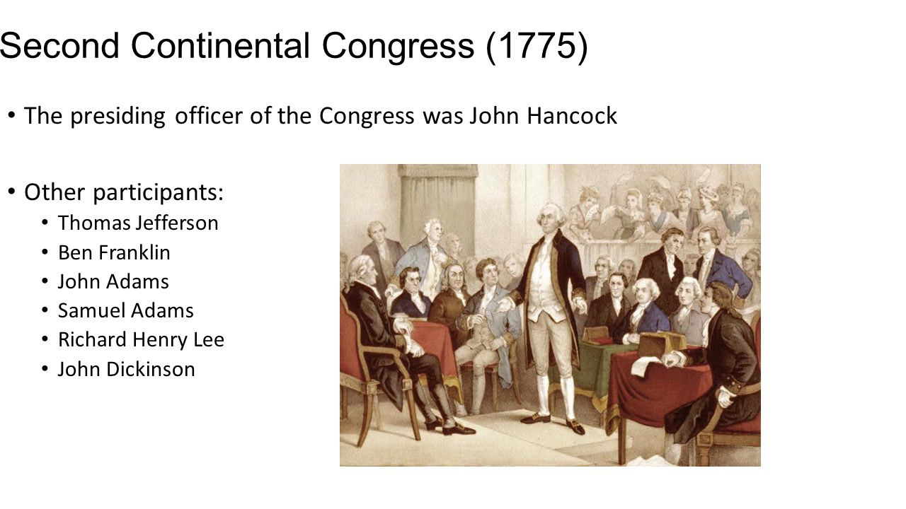 second continental congress The continental congress was a result of the patriots' frustration with the intolerable acts they included sam adams, george washington & john adams.