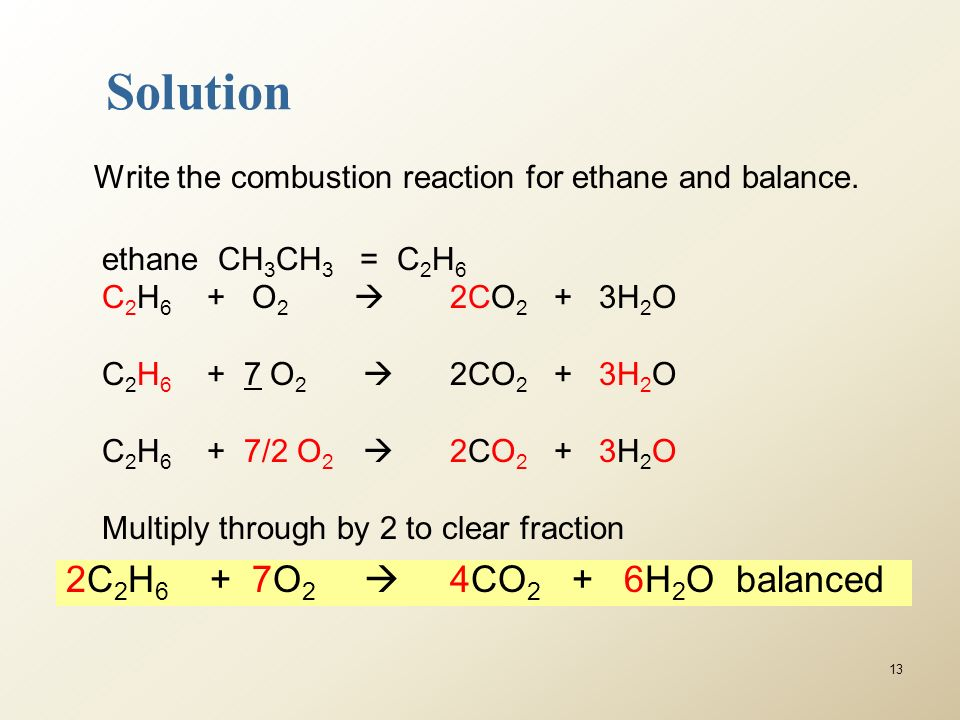 Can you write and balance the equation for the complete combustion of ethane, #C_2H_6#?