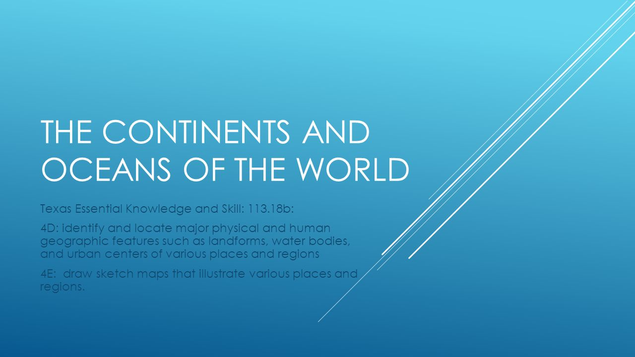 The Continents And Oceans Of The World Ppt Video Online Download - Major continents