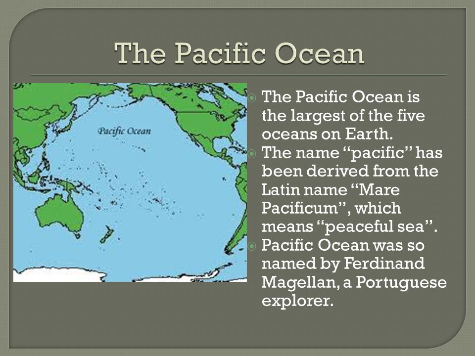 The Oceans Oceans Cover About Of The Earths Surface Ppt - Five oceans