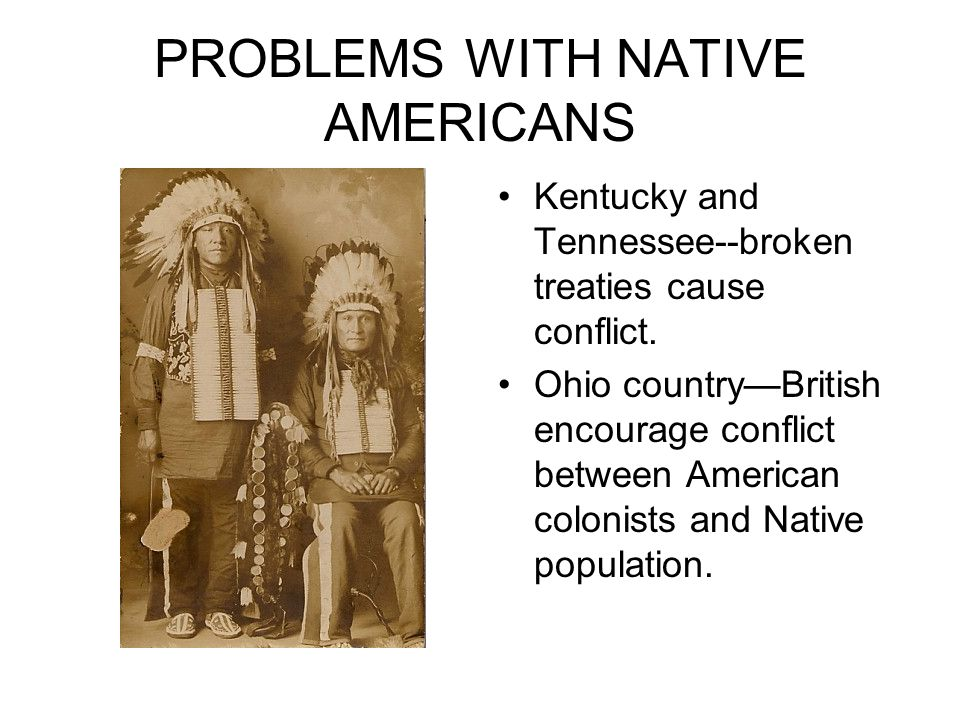 Native americans conflict with the english