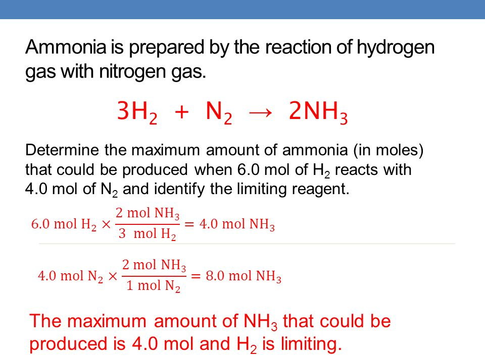 how to work out limiting reagent