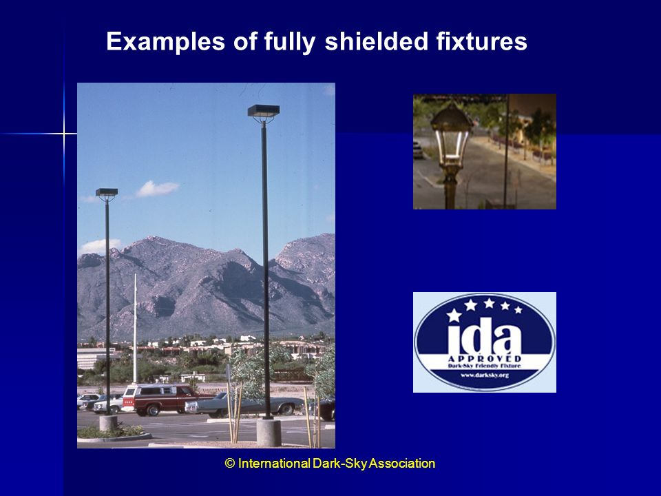 Examples of fully shielded fixtures.