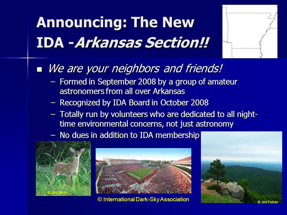 Announcing: The New IDA -Arkansas Section!!