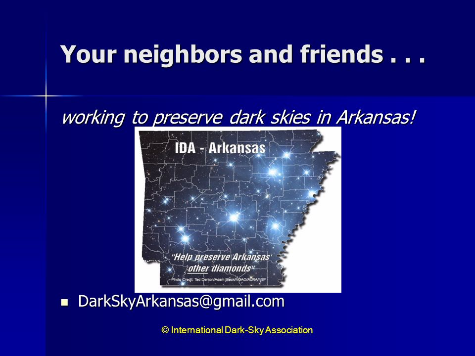 Your neighbors and friends . . .