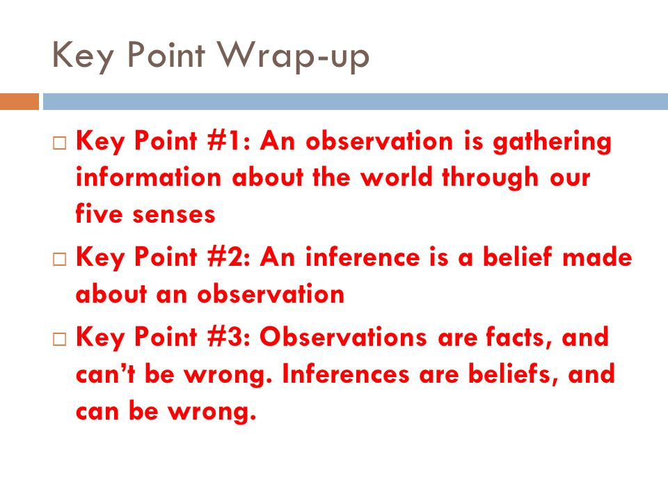 Observation and Inference - ppt video online download