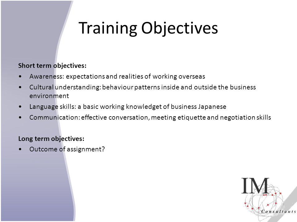 Objectives of a Sales Representative Training Program