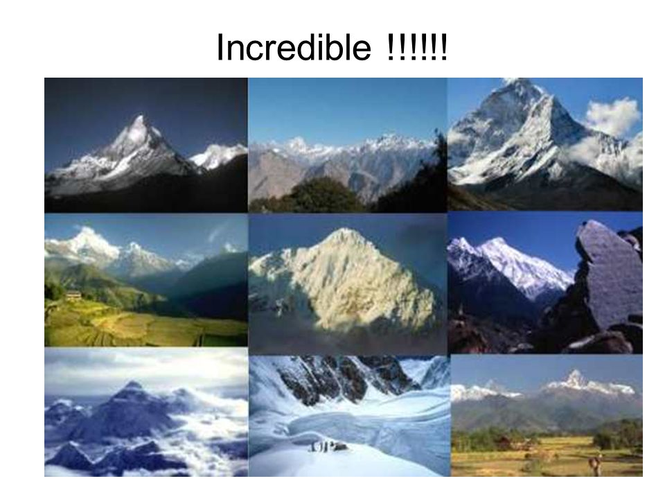 Incredible !!!!!!