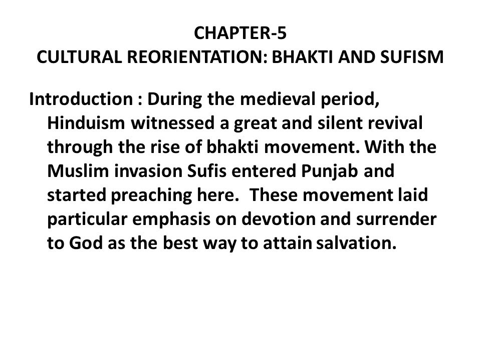 bhakti and sufi movement pdf