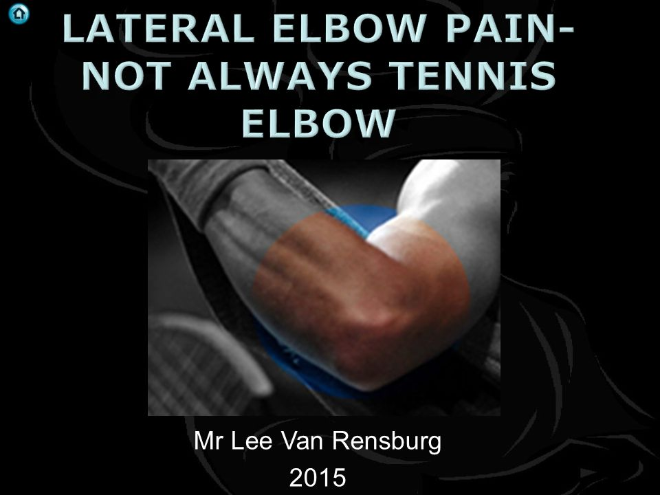 Lateral elbow pain- not always tennis elbow - ppt video online download