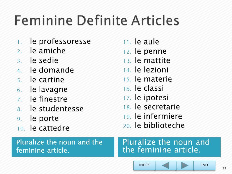 Feminine Definite Articles