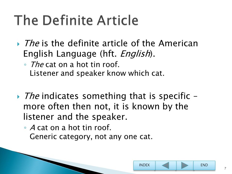 The Definite Article The is the definite article of the American English Language (hft. English).