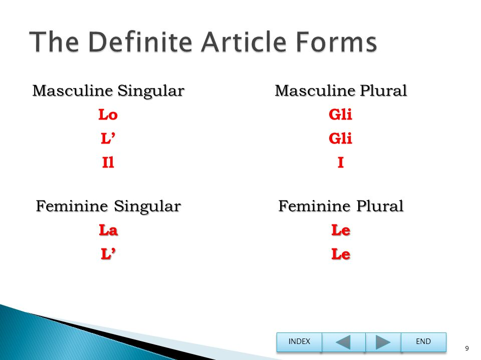 The Definite Article Forms