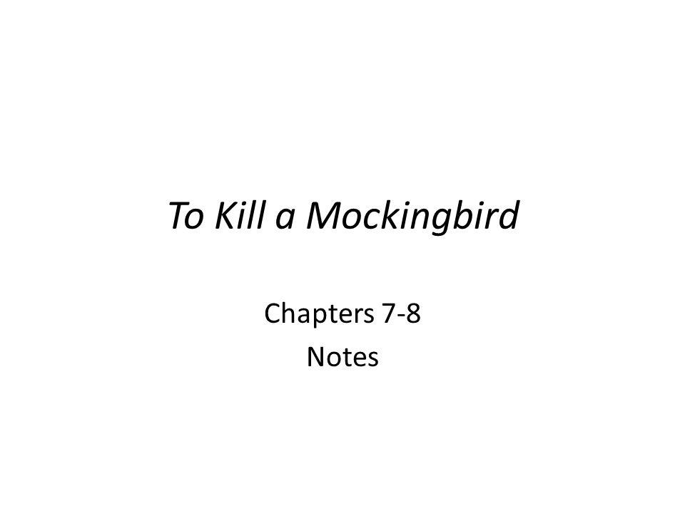 how to kill a mockingbird chapter 8