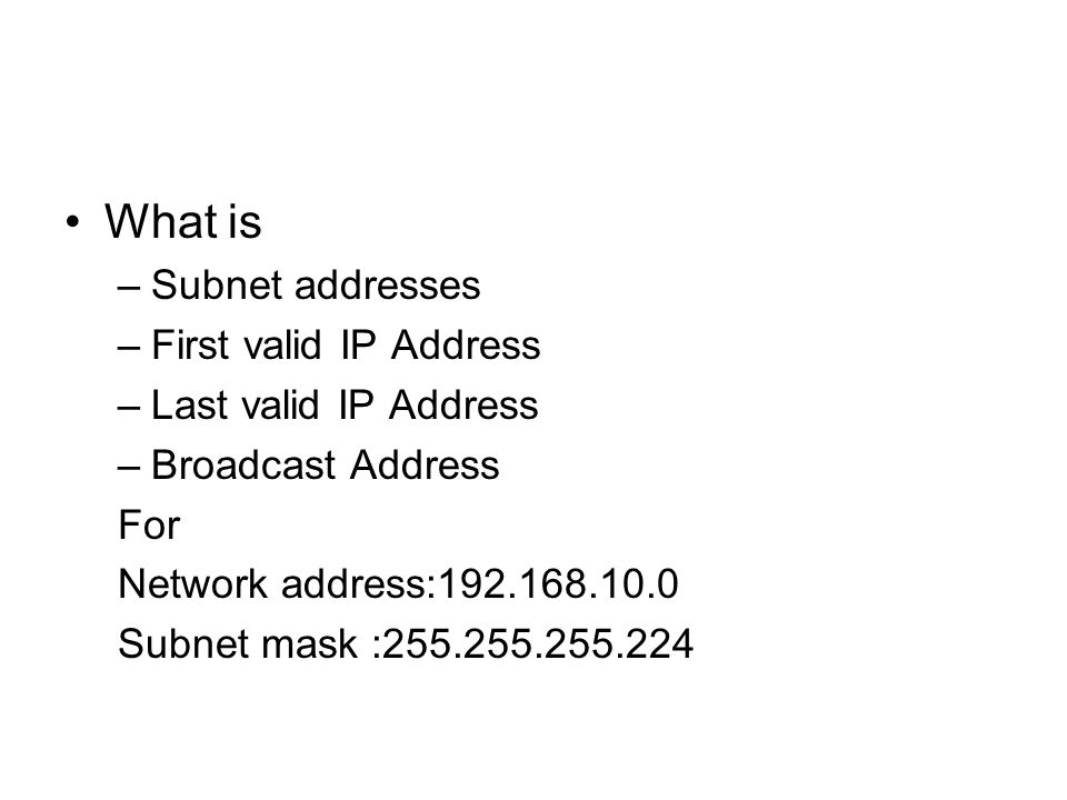 how to calculate ip address range from subnet mask manually
