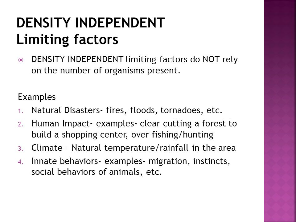 Limiting Factors in a Population - ppt download