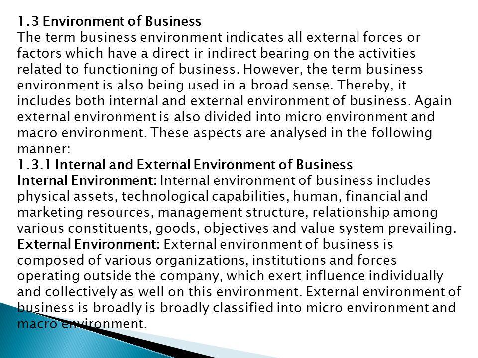 external environment of business pdf