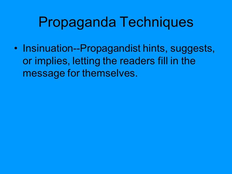 propaganda techniques essay conclusion