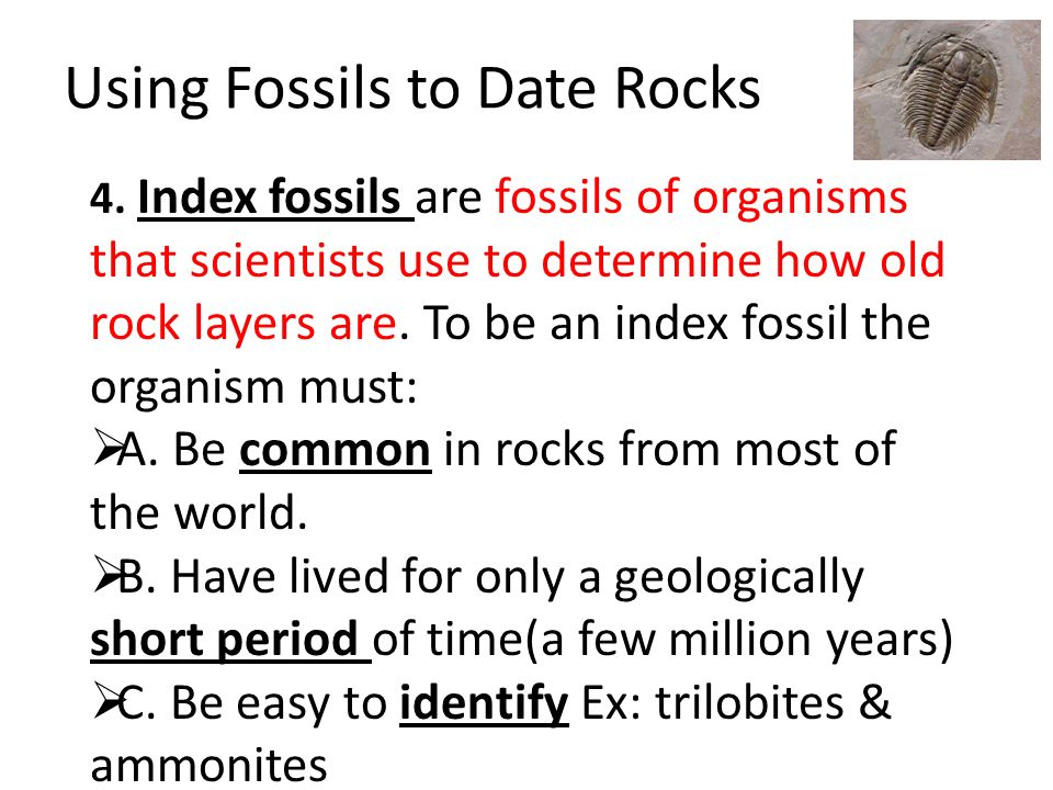 two methods for dating fossils