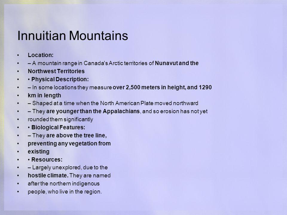 Innuitian Mountains Location A