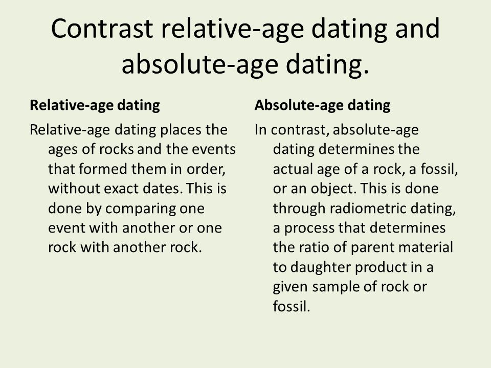 How does radiometric dating differ from relative dating