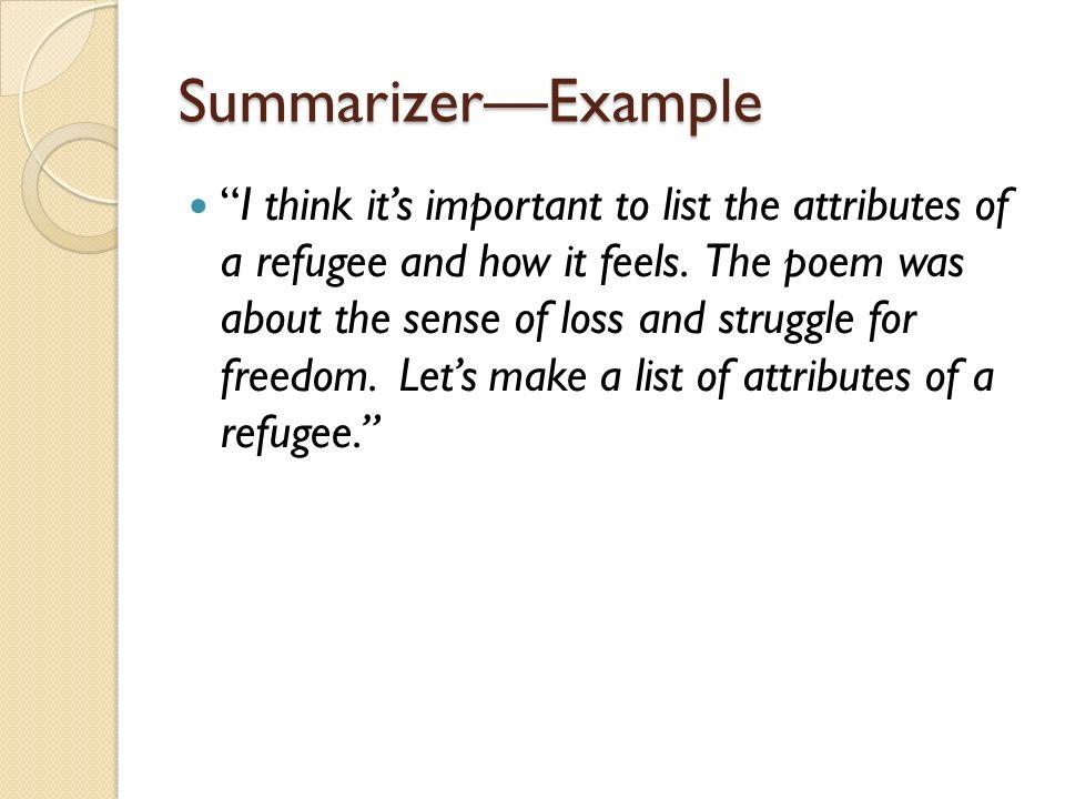 "literature circles ppt  26 summarizer example """
