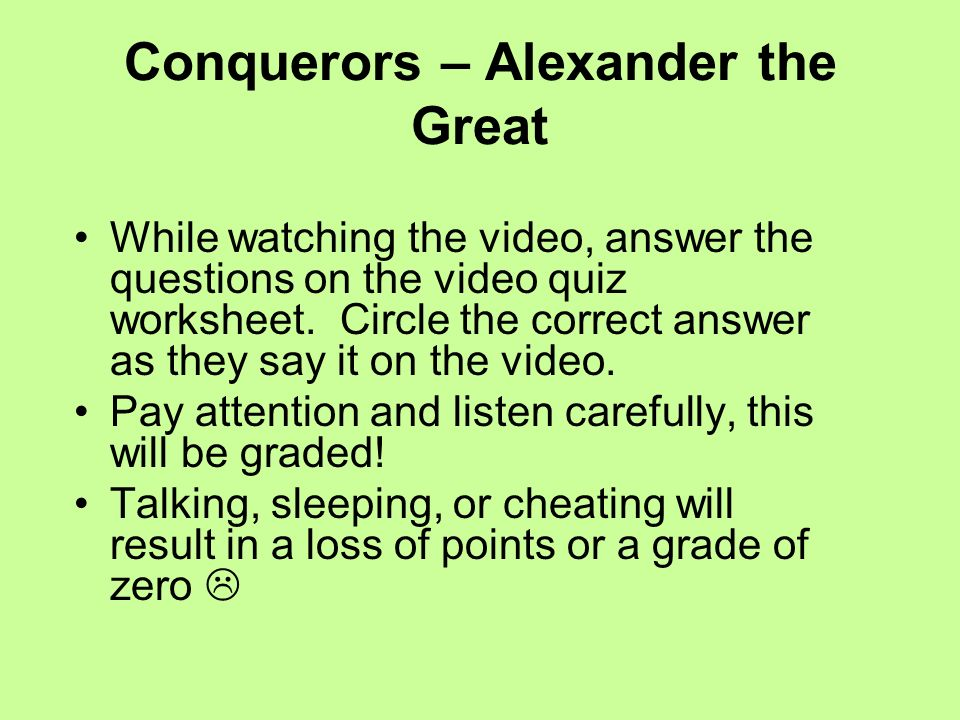 Alexander the Great MAIN IDEA Alexander the Great built a huge – Alexander the Great Worksheet
