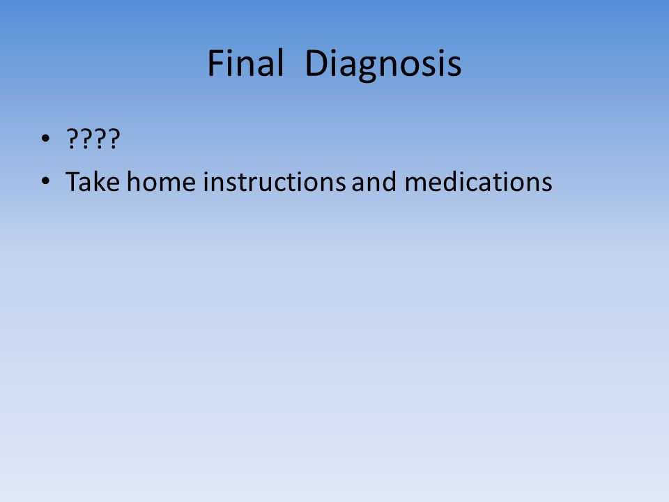 final diagnosis questions Learn what is included in a pathology report to better understand your diagnosis  questions to ask your doctor - screening  diagnosis or final diagnosis.
