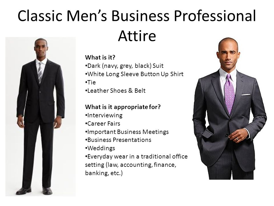 professional dress for men & women for all occasions - ppt video, Powerpoint templates
